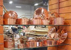 Copper cookware #countryfrenchkitchens