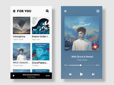 "Here's some of the idea of the design for the music App,if u like it, plz press the "" L"" ."