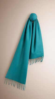 Dark aqua The Classic Cashmere Scarf -  1
