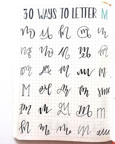 Bullet journal 30 Ways to Letter My, bullet journal lettering ideas. | @whosfria