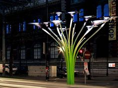 ross lovegrove solar tree, solar powered urban lighting, sustainable art project, MAK museum in Vienna, The Solar Tree, Ross Lovegrove Solar...