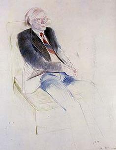 David Hockney - Andy, Paris - 1974.