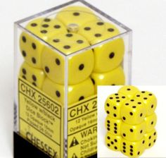 Chessex Dice d6 Sets: Opaque Yellow w... $2.89 #bestseller