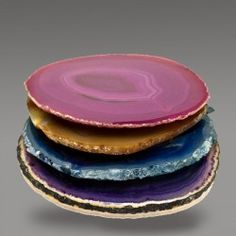 Drink Coasters in Agate Stone - mixed set