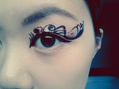 1 Pair of Temporary Tattoo Transfer Stickers Makeup for Eyes Eyelids Peacock Feather Eye Laced for Prom Festival Clubbing Party Halloween on Etsy, $4.00