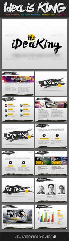 Presentation Templates - Ideas is King Creative PowerPoint Template | GraphicRiver, design, presentation,