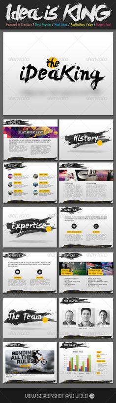 Presentation Templates - Ideas is King Creative PowerPoint Template   GraphicRiver, design, presentation,