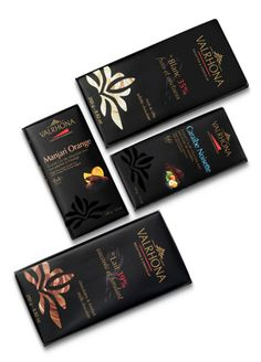 Valrhona chocolate bar packaging | Design le5ruedosne.fr