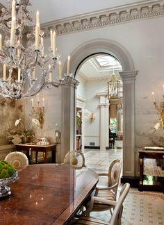 New Traditional interior design dining room Plafond Design, Enchanted Home, Interior Decorating, Interior Design, Decorating Ideas, Elegant Dining, Classic Interior, Traditional Interior, Decoration Design