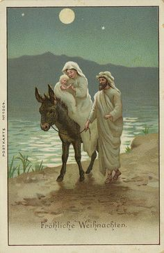 Flight into Egypt holy card