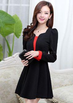estilo coreano de diseño bowknot nueva moda vestidos casuales Varios vestidos