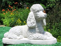 This would be perfect for my garden.CONCRETE POODLE DOG STATUE OR USE AS A MONUMENT  ebay.com