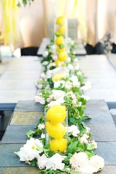 Take a look at this beautiful Summer lemon-themed baby shower! The centerpiece is beautiful!  See more parties ideas and share yours at CatchMyParty.com #catchmyparty #partyideas #lemon #lemonparty #girlbabyshower #rusticparty #centerpiece Baby Shower Desserts, Baby Shower Parties, Baby Shower Themes, Shower Ideas, Lemon Party, Baby Shower Photos, Summer Cakes, Girl Shower, Shower Baby