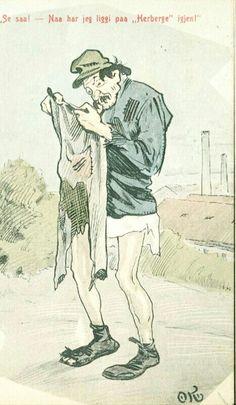 Humorkort Olaf Krohn Tidlig 1900-tall