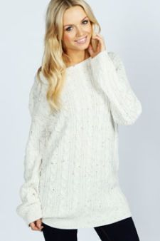 Katy Nep Cable Tunic Jumper