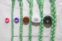 Choosing the right size of beads for braids...good to know for when I learn how to braid BB's hair.