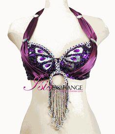 Sexy Purple Silk O-Ring Halter Top Bra