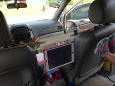 awesome Ipad holder for car Ziploc Bag, Duct Tape, Bungy Cords Worked great on our roa... Anna's Completed Projects
