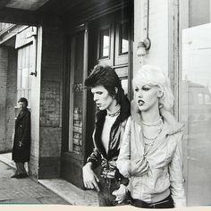 David Bowie & Cyrinda Foxe