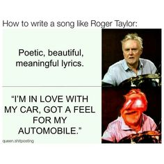Read Roger Taylor from the story QUEEN MEMES by Roger_Hot_Drummer with reads. These memes are about Roger Taylor Rainha Do Rock, Roger Taylor Queen, Meaningful Lyrics, Queen Meme, We Will Rock You, Fandoms, Queen Freddie Mercury, Queen Band, All The Things Meme