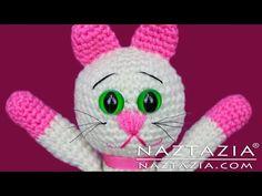 DIY Learn How to Crochet Kitty Kitten Cat Toy Amigurumi Stuffed Animal Pet - YouTube