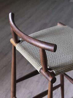 High wooden stool PELLEOSSA | Stool - Miniforms