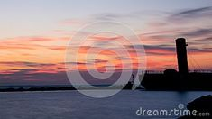 An old sunken Great Lakes freighter guards the entrance to the harbour at Port Credit, Ontario. In the background, the sun is about to rise over Lake Ontario. Great Lakes Ships, Ontario, Entrance, Sunrise, Awesome, Photos, Outdoor, Outdoors, Entryway