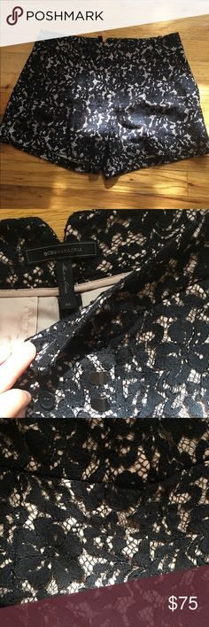 BCBGMaxAzria Pia Black Lace Shorts NWOT! Beautiful shorts. I have another pair in another size that I wear so selling these that don't fit anymore. BCBGMaxAzria Shorts