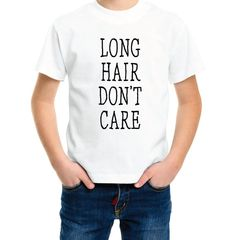 Long Hair Don't Care Tee  Little Boy's Tee by SixpencePress
