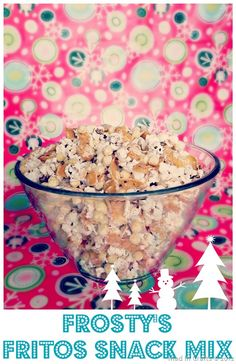 Frosty's Frito Snack Mix (white chocolate, Fritos, Kix and popcorn) - Mad in Crafts