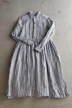 LINEN STRIPE SHIRT DRESS