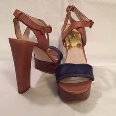 Michael Kors Platform Sandals Get your must-have summer sandals early! Michael Kors platform sandals with ankle cross strap and adjustable buckle. Michael Kors Shoes Platforms