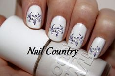 50pc Country Purple Camo Bone Collector Deer Nail Decals Nail Art Nail Stickers Best Price  NC147