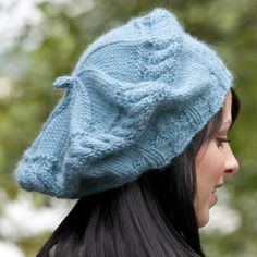 Cascade Yarns W440 Twice Cabled Beret (Free) in Cascade Yarns at Webs
