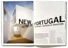 Interesting use of typography in a spread, using elements of the photography for the grid.