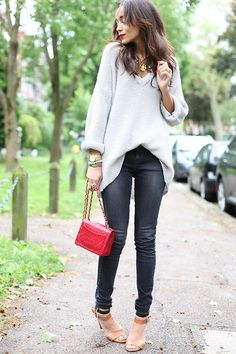 Nasty Gal Sweater, Topshop Jeans, Chanel Bag