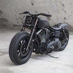 Blacker than black: a custom Harley Dyna Fat Bob from Rough Crafts.