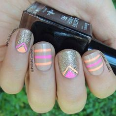 Nude, Neon gold   See more at http://www.nailsss.com/...   See more nail designs at http://www.nailsss.com/nail-styles-2014/: