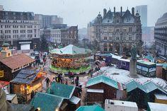 The Birmingham Frankfurt Christmas Market in Victoria Square, Birmingham, West Midlands, England, UK