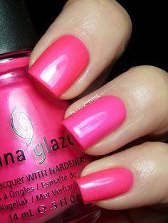 China Glaze Summer Neons Swatches (Fashion Polish) Surfin' for Boys