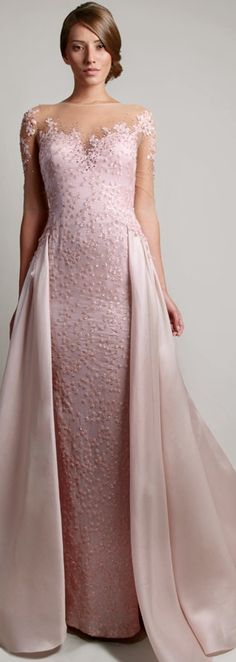 Gemy Maalouf 2014 jaglady ༺ß༻ Stunning Dresses, Beautiful Gowns, Elegant Dresses, Pretty Dresses, Beautiful Outfits, Formal Dresses, Wedding Dresses, Pink Dresses, Robes Glamour