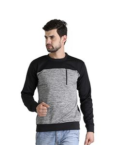 Men's Black Grey Sweat Shirt – Atheno India
