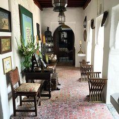 Entrance Dar Zero, Tangier Morocco. #darzero #kasbah #tangier #tanger #charlessevigny Moroccan Decor, Moroccan Style, York Castle, Tangier Morocco, Holiday World, Andalusia, Home And Deco, Entrance, Diy Home Decor