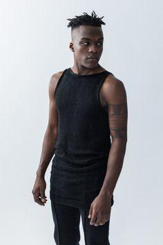 unisex washed linen tunic : black by MorphKnitwear on Etsy