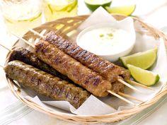 Homemade Lamb Kebab Recipe with Yogurt Sauce and Pita Breads