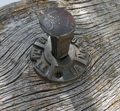 Railroad Spike Hook with Rustic Washer ~ Coat Hook ~ Robe Towel Hook ~ Rustic Knob Hanger ~ Knobs by HighDesertRust on Etsy
