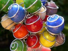miniature gazing balls for fairy garden