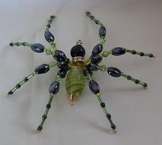 more beaded spiders.