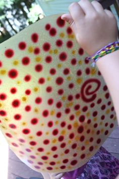 Homemade polka dot (or any other design you like) fruit leather, yum!   :)