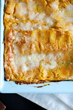 No need to roast fresh pumpkin for this dish (although you certainly could); using canned unseasoned pumpkin puree is much quicker, and it works just fine. Like most lasagnes, this one is easier to cut if left to set for ten minutes or so before serving. #pasta #pastarecipes #pastainspiration #pastadinner #pastaideas #pastadinner #pastaideas Lasagne Recipes, Pasta Recipes, Baked Pasta Dishes, Ravioli Lasagna, Baked Rigatoni, Star Chef, Ten Minutes, Pasta Bake, Pumpkin Puree